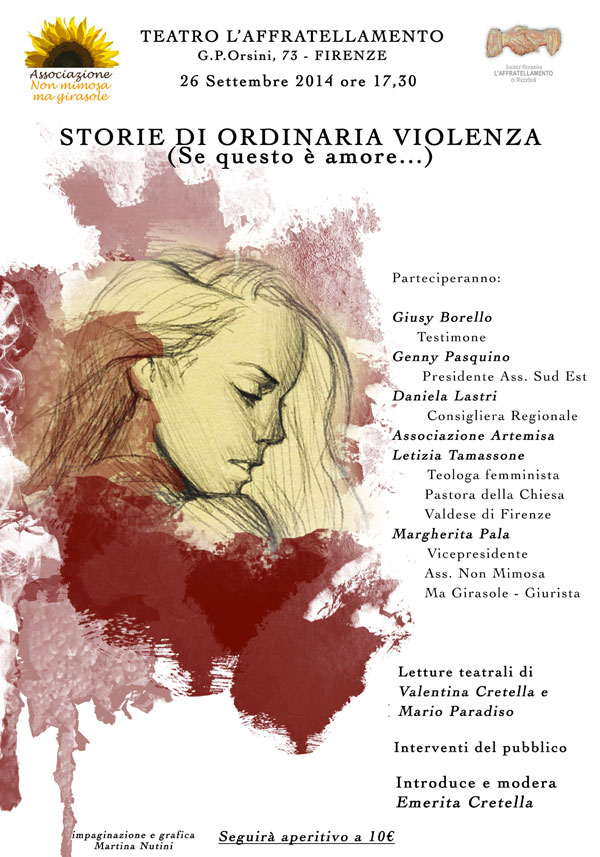 26.09.2014, FIRENZE: Storie di ordinaria violenza @ Teatro l'Affratellamento   Firenze   Toscana   Italia