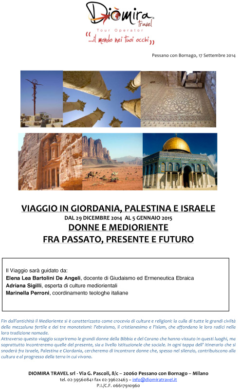 29.12.2014: Viaggio in Giordania, Palestina e Israele