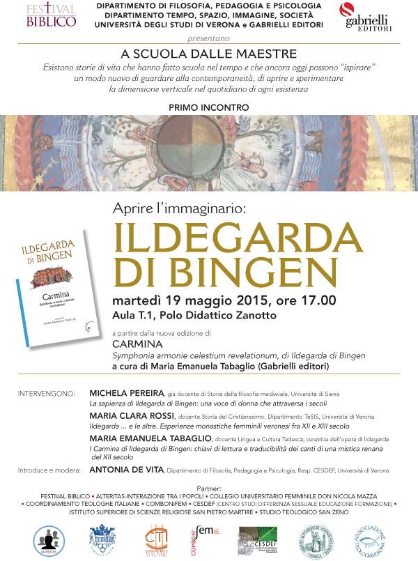 19.05.2015, VERONA: Ildegarda di Bingen @ Aula T1, Polo Didattico Zanotto, Università Verona