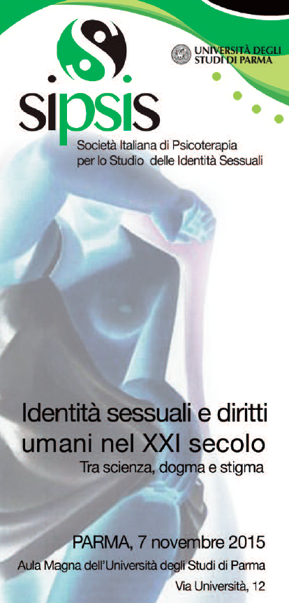 7.11.2015, PARMA: Identità sessuale e diritti umani nel XXI secolo @ Aula Magna Università degli Studi di Parma | Parma | Emilia-Romagna | Italia