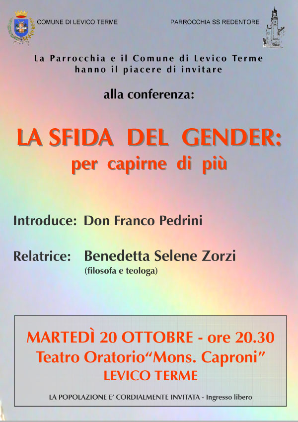 20.10.2015, Levico Terme : La sfida del Gender