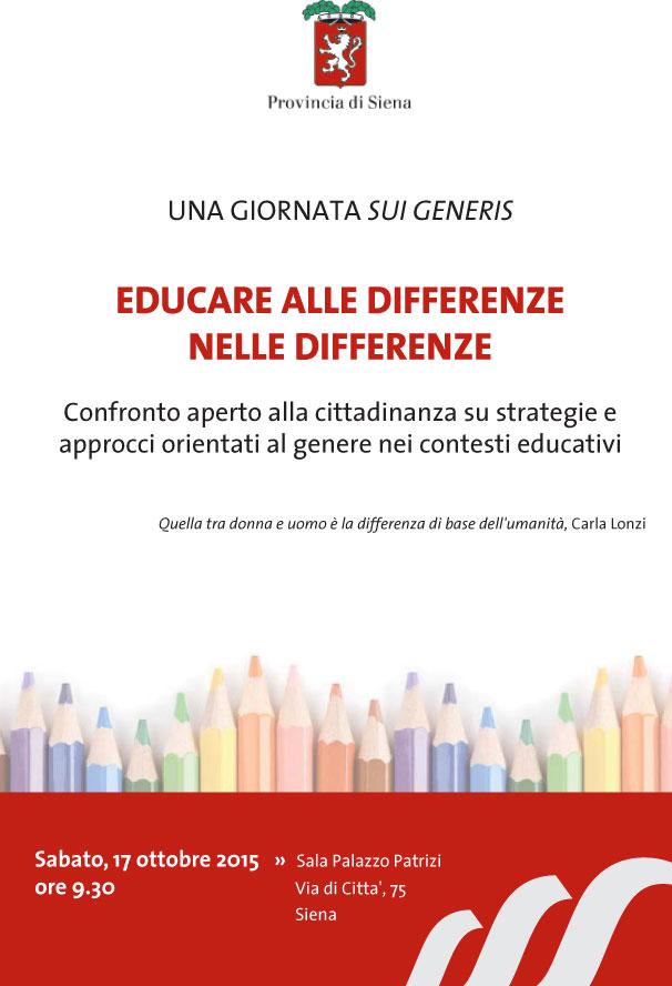 17.10.2015, SIENA: EDUCARE ALLE DIFFERENZE NELLE DIFFERENZE