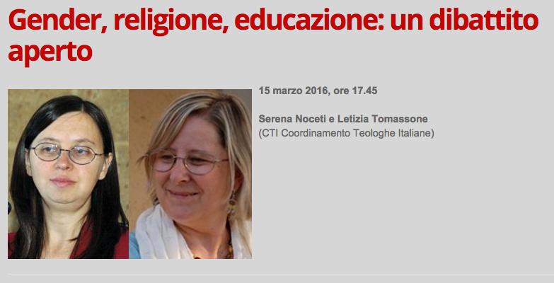 15.03.2016, GENOVA: Gender, religione, educazione: un dibattito aperto @ Palazzo Ducale di Genova | Manesseno | Liguria | Italia