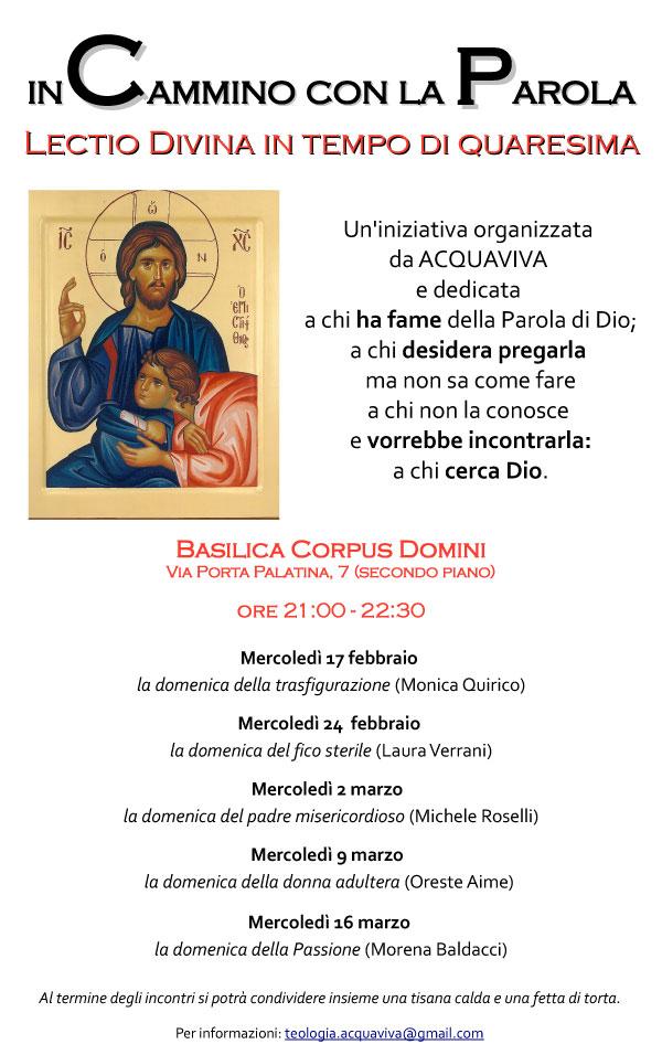 17.02.2016, TORINO: In cammino con la Parola - ciclo di incontri @ Basilica del Corpus Domini | Torino | Piemonte | Italia