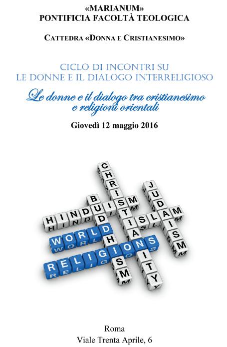 12.05.2016, ROMA: Le donne e il dialogo tra cristianesimo e religioni orientali @ Roma | Lazio | Italia