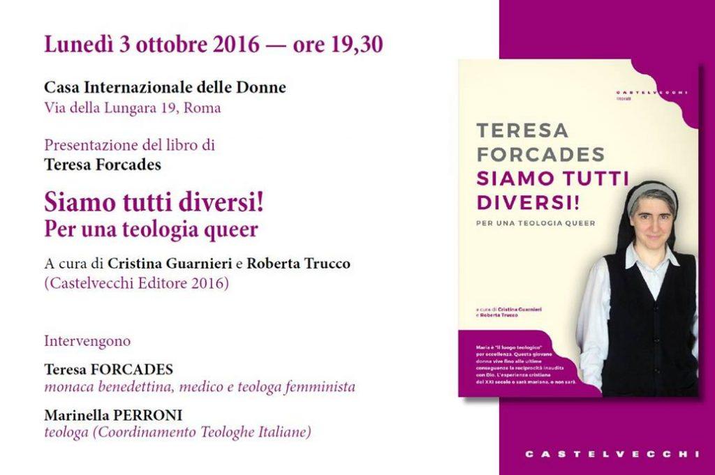 03.10.2016, ROMA: SIAMO TUTTI DIVERSI! Per una teologia queer @ Casa Internazionale delle Donne | Roma | Lazio | Italia