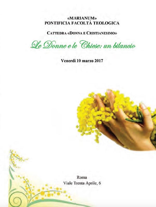 10.03.2017, ROMA: Le Donne e le Chiese: un bilancio @ Pontificia Facoltà Teologica | Roma | Lazio | Italia