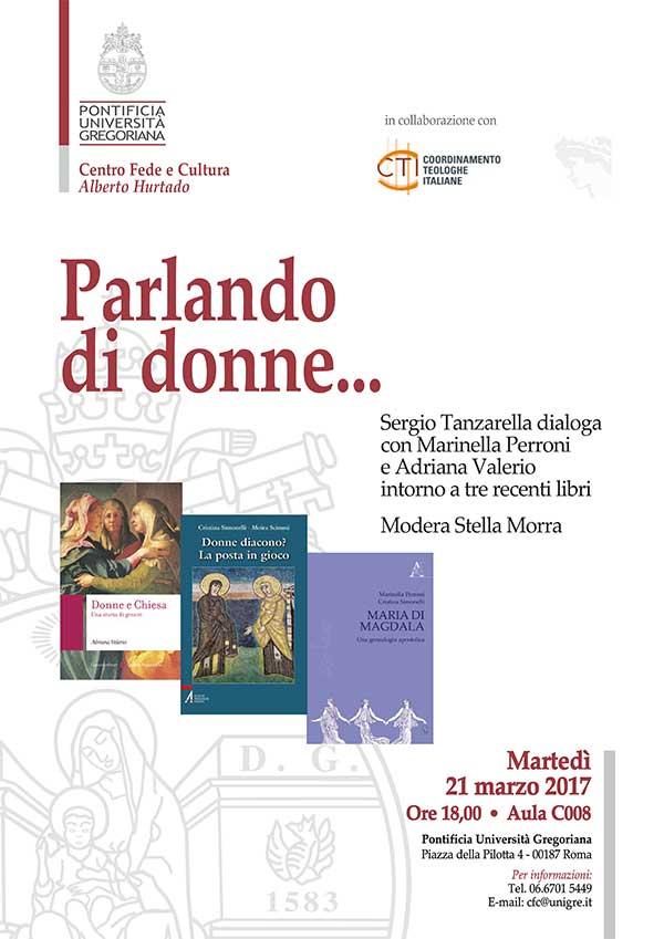 21.03.2017, ROMA: Parlando di donne... @ Università Pontificia - Aula C008 | Roma | Lazio | Italia