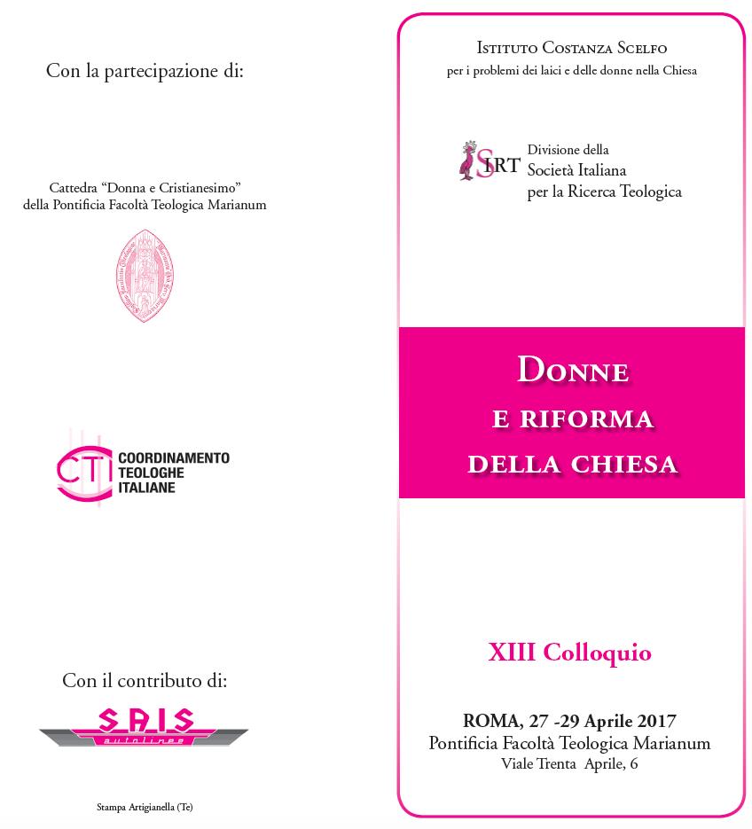 27.04.2017, ROMA: Donne e Riforma della Chiesa @ Istituto Costanza Scelfo | Roma | Lazio | Italia