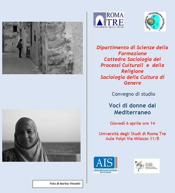 06.04.2017, ROMA: Voci di donne dal Mediterraneo @ Università degli Studi di Roma Tre - Aula Volpi Via Milazzo 11/B
