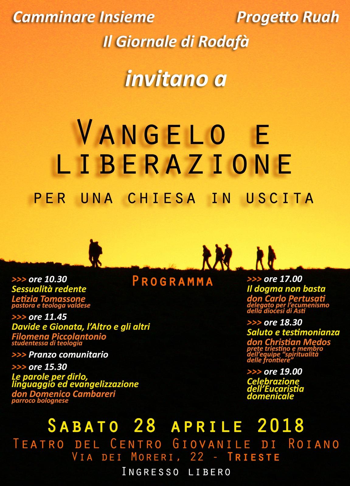 28.04.2018, TRIESTE: Vangelo e liberazione, per una chiesa in uscita @ Teatro del Centro Giovanile di Roiano | Trieste | Friuli-Venezia Giulia | Italia