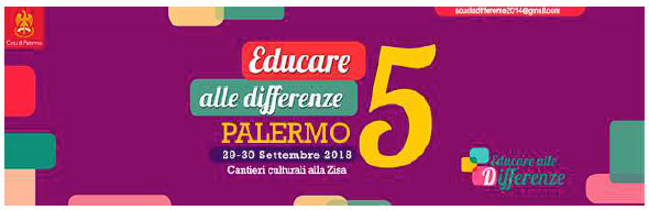 29-30.09.2018, PALERMO: Il programma di Educare alle differenze V