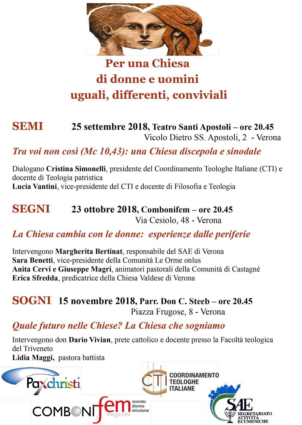 25.09.2018, VERONA: Tra voi non così (Mc 10,43): una Chiesa discepola e sinodale @ Teatro Santi Apostoli | Verona | Veneto | Italia