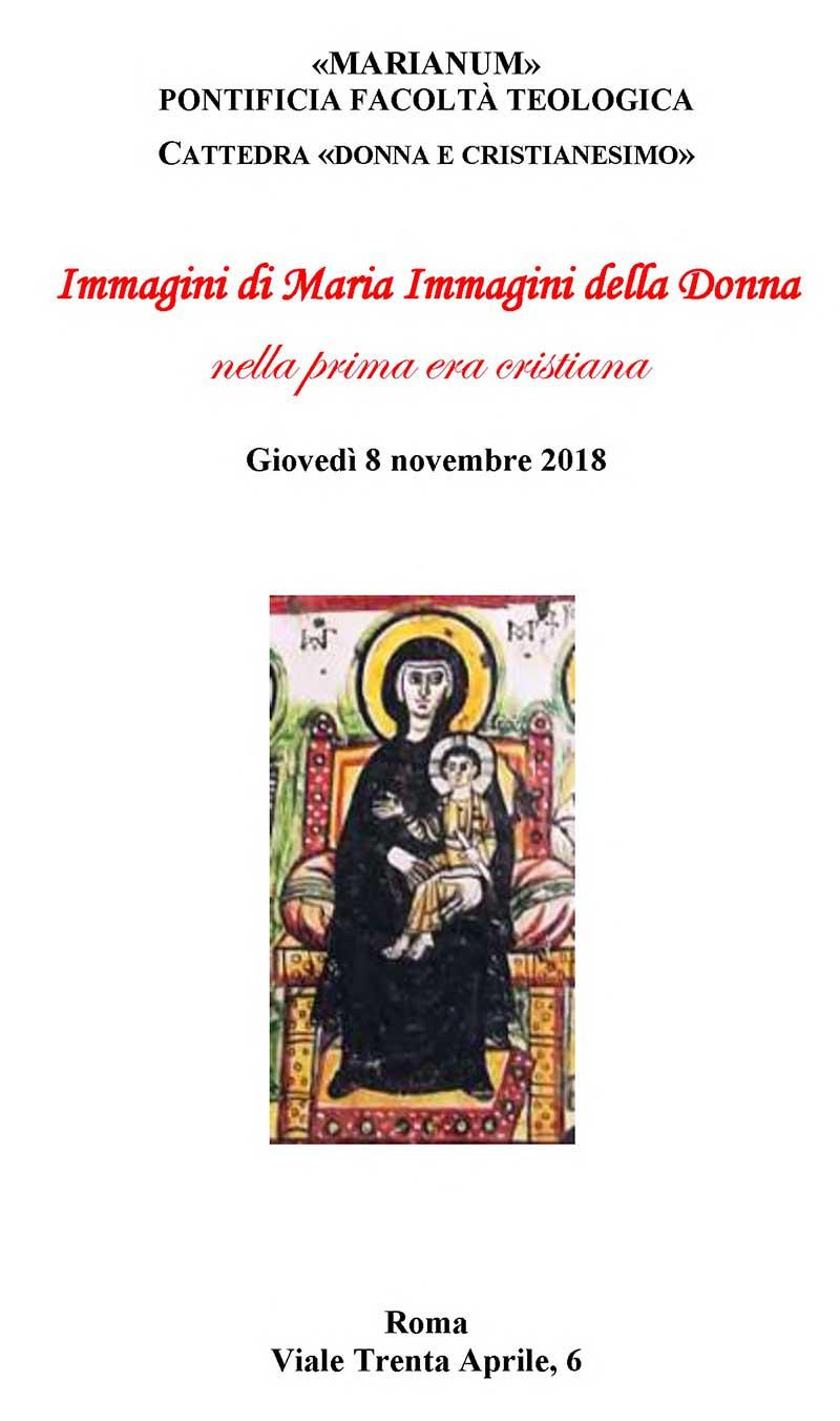 08.11.2018, ROMA: Immagini di Maria Immagini della Donna nella prima era cristiana @ Marianum - Pontificia Facoltà Teologica | Roma | Lazio | Italia