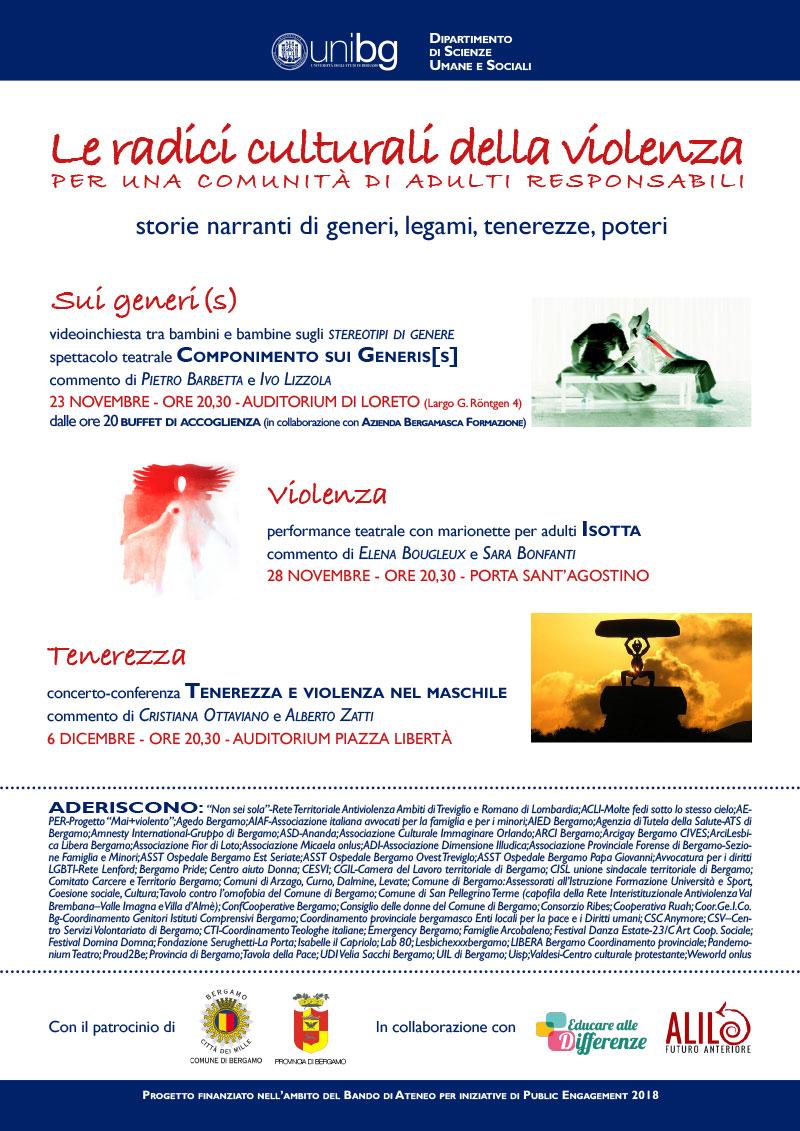 Ciclo di incontri UNIBG: Le radici culturali della violenza per una comunità di adulti responsabili