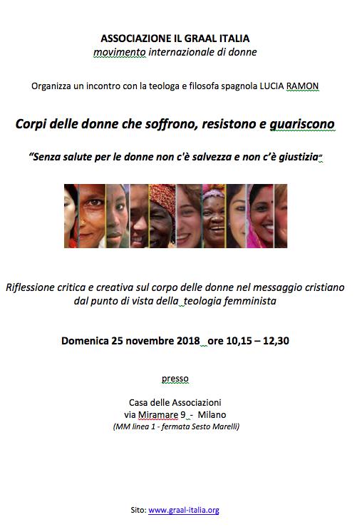 25.11.2018, MILANO: Corpi delle donne che soffrono, resistono e guariscono @ Casa delle Associazioni | Milano | Lombardia | Italia
