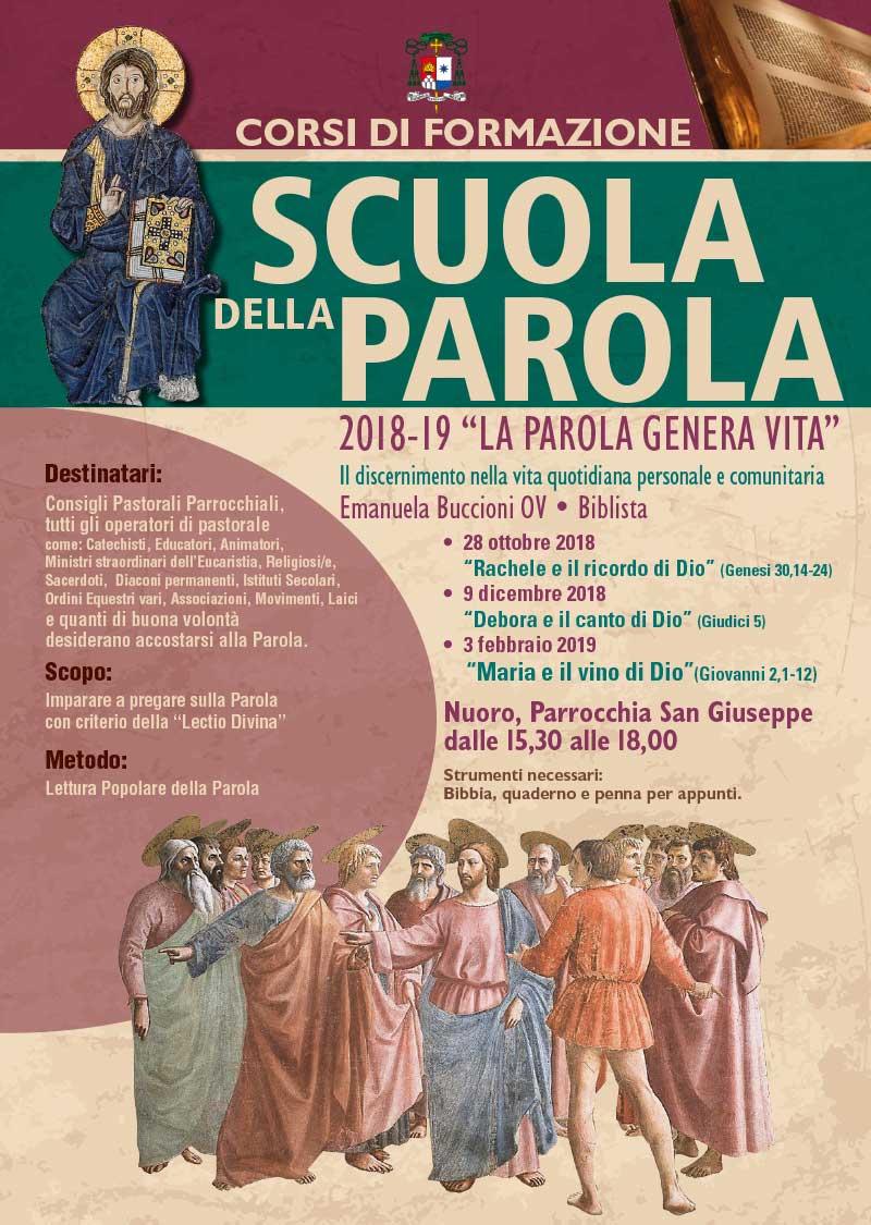 """NUORO: Ciclo di incontri """"Scuola della Parola"""" - La Parola genera vita @ Parrocchia San Giuseppe - NUORO"""