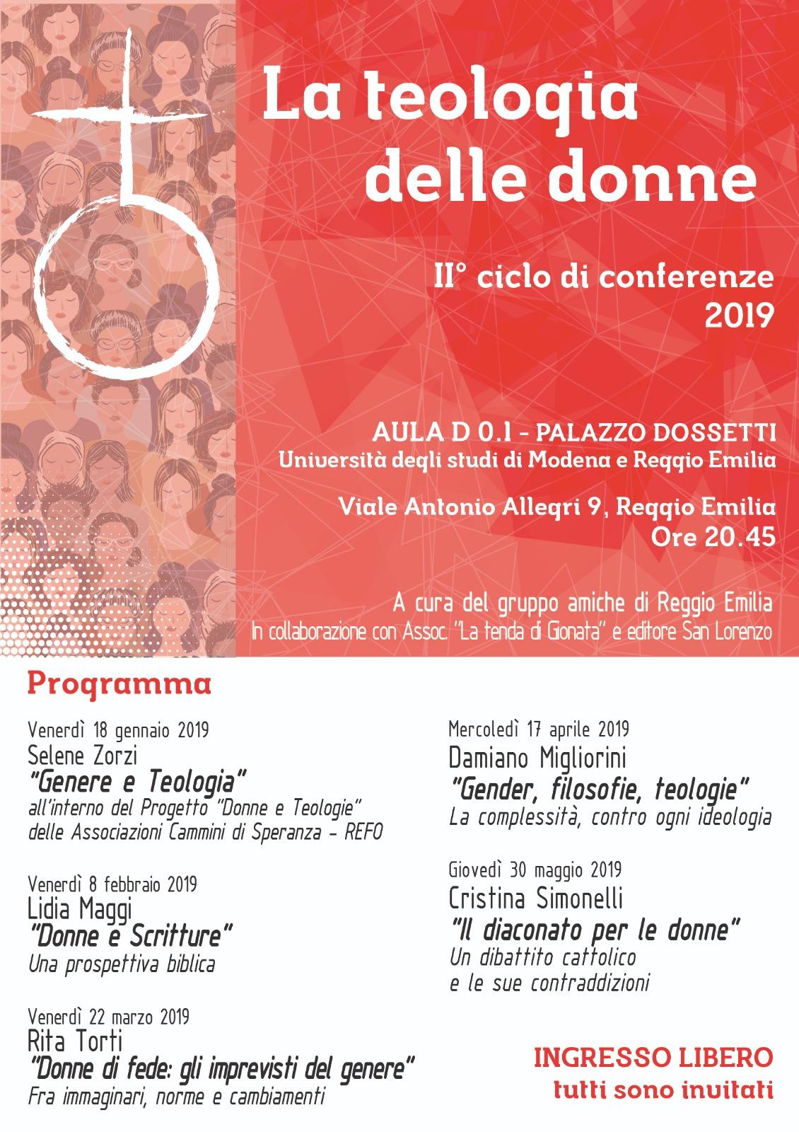 Ciclo di incontri: La teologia delle donne @ Palazzo Dossetti - Università degli Studi di Modena e Reggio Emilia