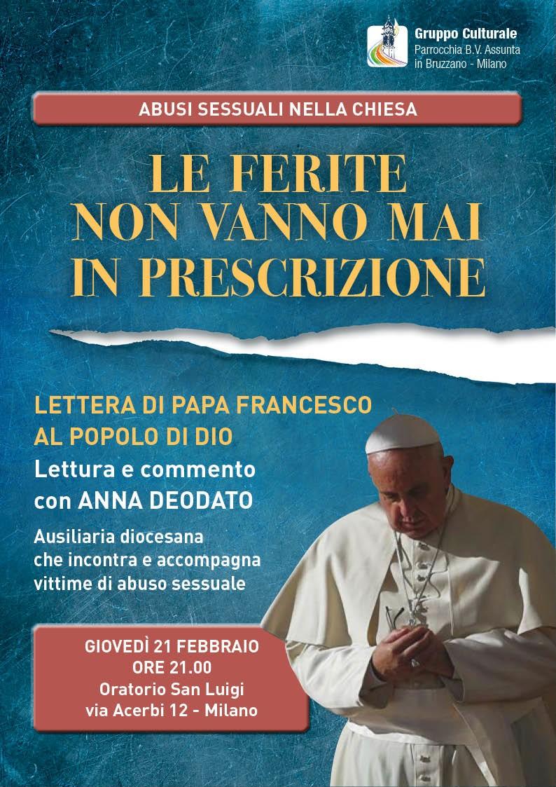 21.02.2019, MILANO: Le ferite non vanno mai in prescrizioni @ Oratorio San Luigi