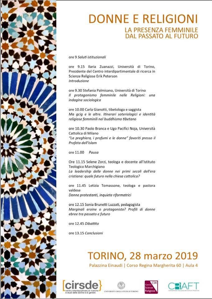 28.03.2019, TORINO: La presenza femminile dal passato al futuro @ Palazzina Einaudi