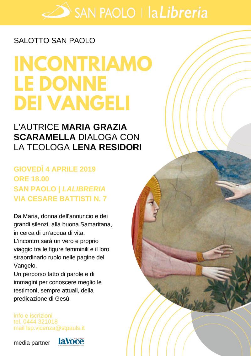 """04.04.2019, VICENZA: Presentazione """"Incontriamo le donne nei Vangeli"""" @ San Paolo / La Libreria"""