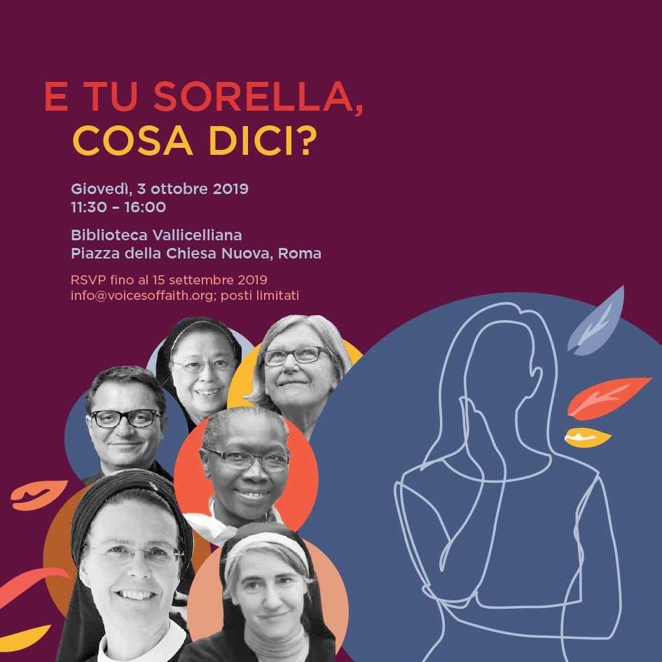03.10.2019, ROMA: E tu sorella, cosa dici? @ Biblioteca Vallicelliana