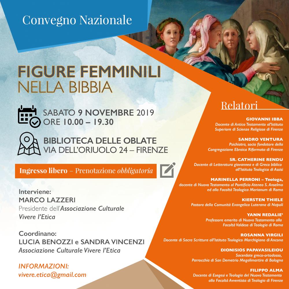 09.11.2019, FIRENZE: Convegno Nazionale, Figure Femminili nella Bibbia @ Biblioteca delle Oblate - Sala Storica