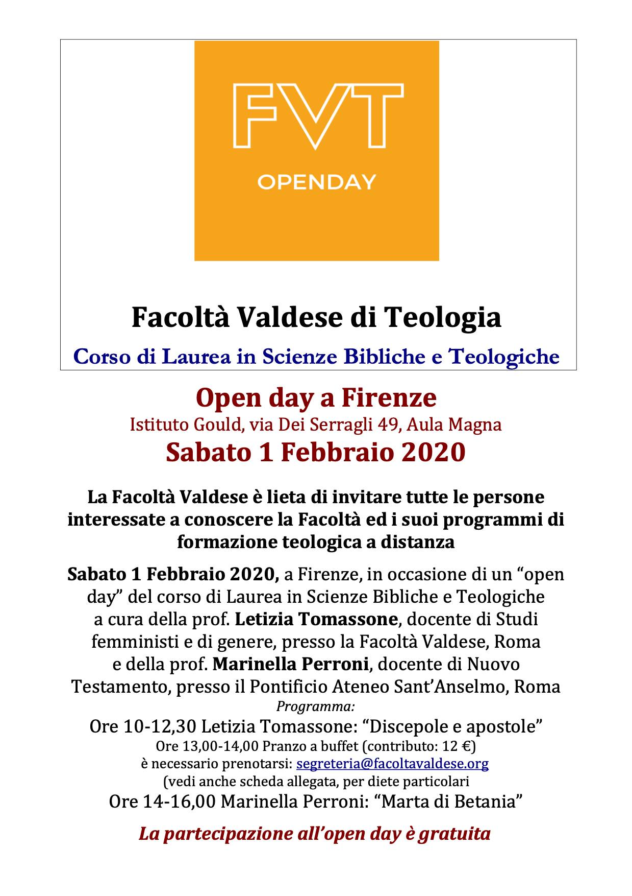 01.02.2020, FIRENZE: FVT Openday @ Istituto Gould, Aula Magna