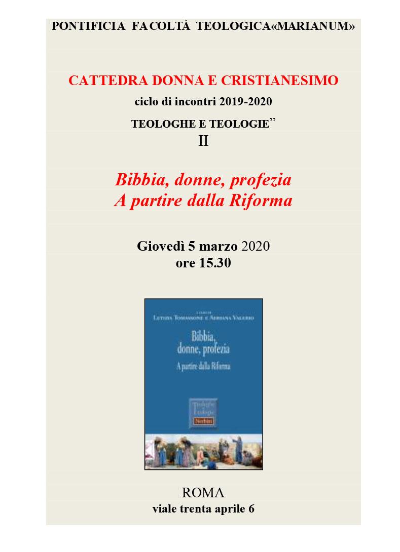 "05.03.2020, ROMA: Ciclo di incontri ""Teologhe e Teologie"" @ Pontificia Facoltà Teologica ""Marianum"""