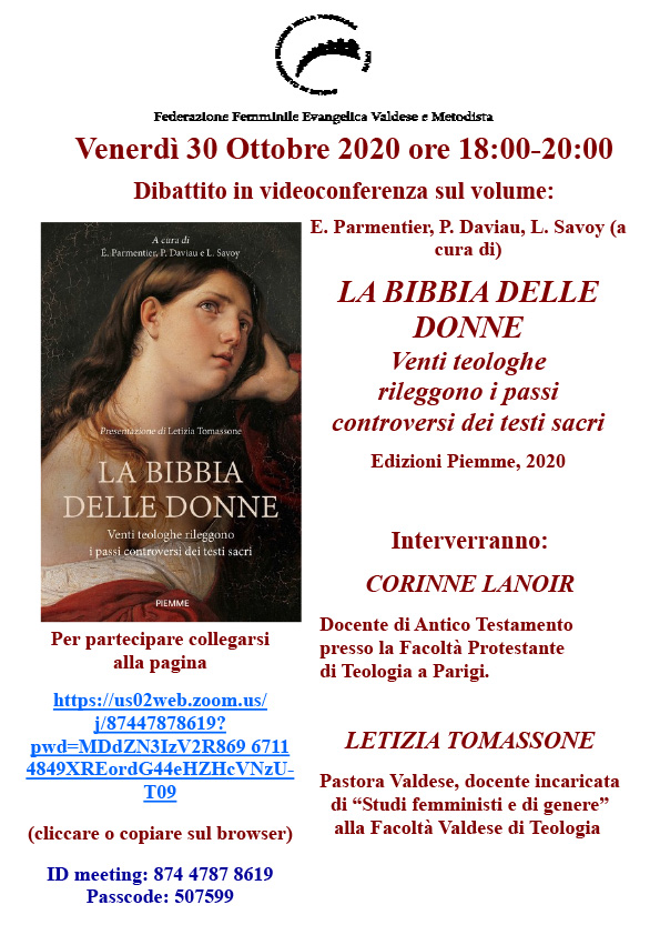 30.10.2020, ONLINE: La Bibbia delle Donne