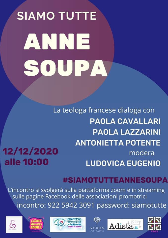 12.12.2020, ONLINE: Siamo tutte Anna Soupa