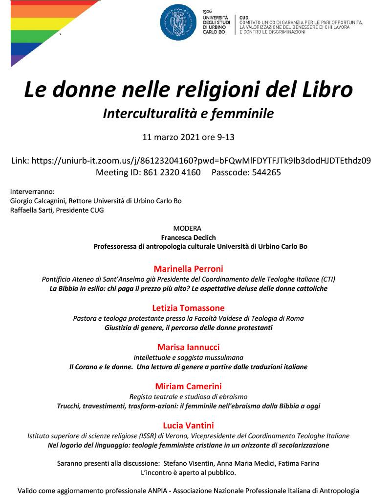 11.03.2021 ONLINE: Le donne nelle religioni del Libro
