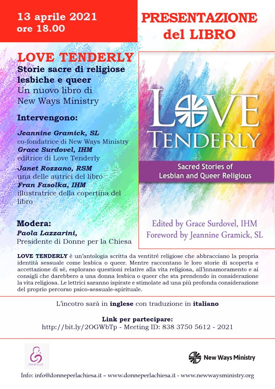 """13.04.2021, ONLINE: Presentazione del libro """"Love Tenderly"""""""