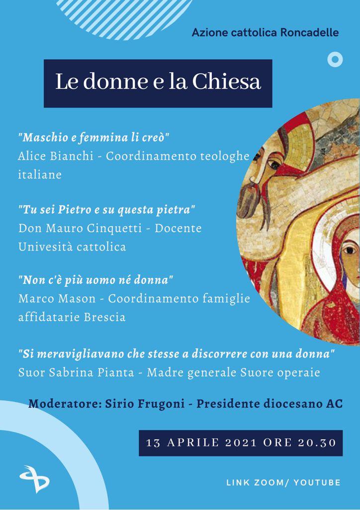 13.04.2021, ONLINE: Le donne e la Chiesa