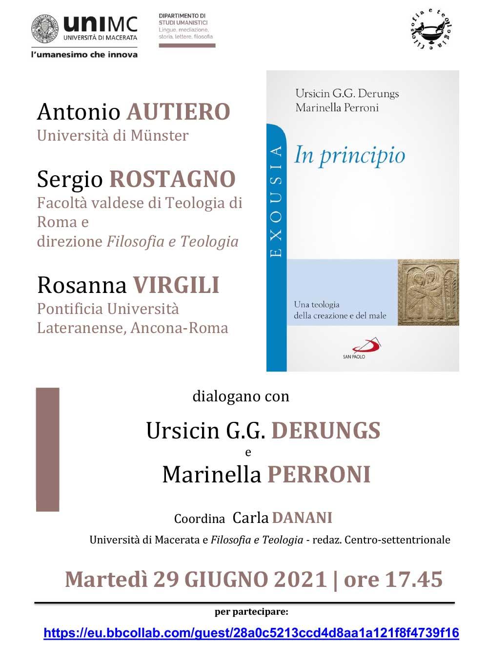 """29.06.2021, ONLINE: Presentazione volume """"In Principio"""""""