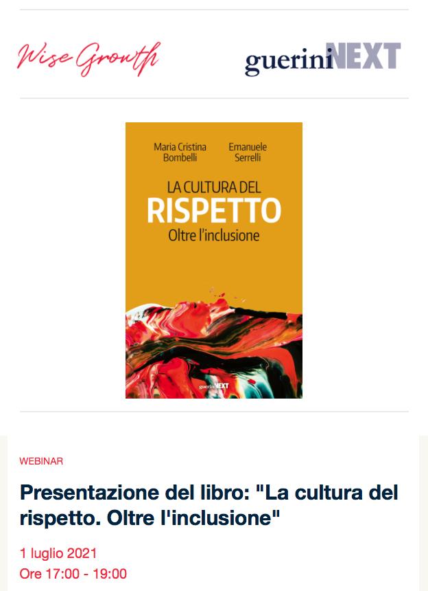"""01.07.2021, ONLINE: Presentazione del libro: """"La cultura del rispetto. Oltre l'inclusione"""""""