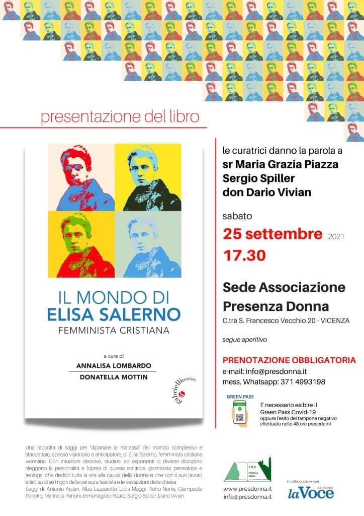 """25.09.2021, VICENZA: Presentazione del libro """"Il mondo di Elisa Salerno"""""""